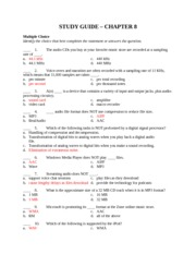 Computer Science STUDY GUIDE 8