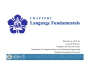 Chapter 2 Language Fundamentals