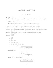Test 2 - 2008 Solutions
