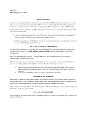 MICRO microbial genetics review sheet