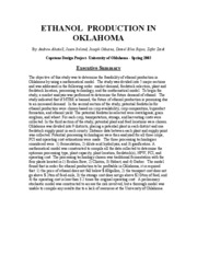 ETHANOL IN OK-EXECUTIVE SUMMARY