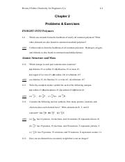Chapter 2 problems + solutions