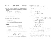 Exam 1 Solution Spring 2013 on Calculus 1 for Engineers