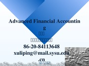 Advanced Accounting ch1
