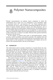 Chapter 8 Polymer Nanocomposites