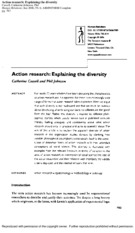 Action Research_Explaining the diversity