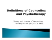PSYCH 383_definitions of counseling and psychotherapy_slides