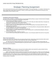 UNI220 Strategic Planning Assignment final copy