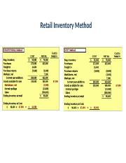 Retail Inventory Method Convention & Cost comparison.docx