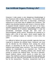 Can Artificial Organs Prolong Life.docx