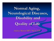 Notes - Normal Aging, Neurological Diseases, Disability, and Quality of Life