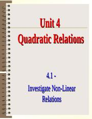 1 - Investigate Non-Linear Relations.ppt