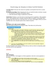 Ecology_Disruption of a Marine Food Web_Worksheet