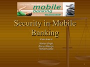Security in Mobile Banking[1]