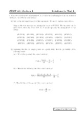 STAT 230 - Test 1 Section 1 Solutions