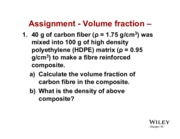 Yose - Assignment 5 - Volume Fraction