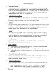 Family Analysis Paper (Grading Rubric).doc