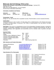 MCB 102 - Policies_and_Syllabus - Summer 2013 Final