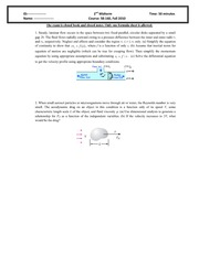 Midtem Exam 2 2010 Solution on Intermediate Mechanics of Fluids