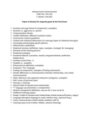 Inter Comm Study Guide