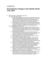 21 - Revolutionary Changes in the Atlantic World, 1750 - 1850