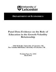 education-growth volatility