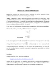 Lab 2_Motion of a Simple Pendulum_Manual