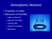 Atmospheric Moisture 1