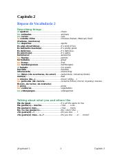 Spanish 1 capitulo_02_vocabulario_2
