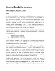 The Super Project case- Solution.docx