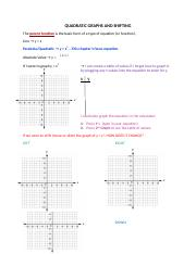 QUADRATIC GRAPHS AND SHIFTING.docx