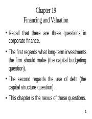 Financing and Valuation.ppt