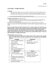 notes on compsis case study This case was prepared by lecturer m jonathan lehrich and mit sloan  compsis at a crossroads m jonathan  compsis was founded in 1989 by engineers from the.