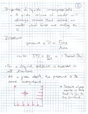 Physics 11 Definition of Pressure Class Notes