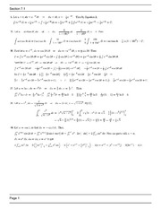 MATH 1271 Spring 2013 Homework Assingment 7.1 Solutions