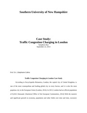 traffic congestion in london essay Free economics essays home free essays  traffic congestion was 22% lower,  transport for london congestion charging.