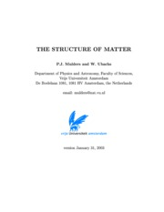 The Structure Of Matter - Mulders