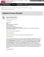Syllabus & Course Schedule – 2017Spring-T-FMS100-27010