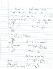 EECE 453 Heat Pump Notes