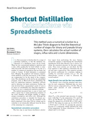 120260 Shortcut Distillation