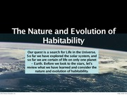 501-The Nature and Evolution of Habitability