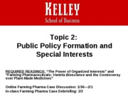 Topic 2_Policy and Special Interests