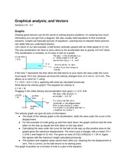 Physics Graphical Analysis and Vectors