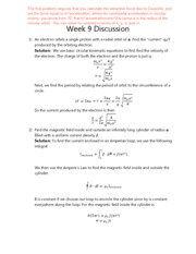 Discussion Quiz 9 Solution
