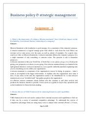 Business Policy & Strategic Management (2017) V2.docx