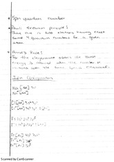 Spin Quantum Number Class Notes