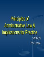 Administrative Law Principles and SWHS Practice(1)