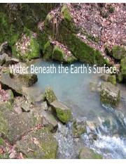 Lecture08 - Water Beneath the Earth's Surface.pptx