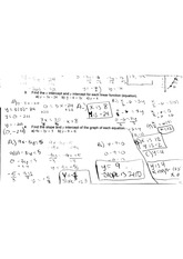 worksheet on linear functions