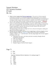 unit 3 research and homework PT1420